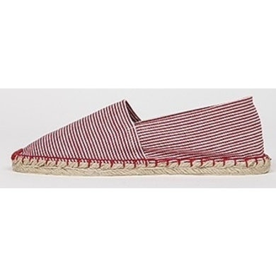 Jane and Fred.com Espadrilles stripes red white