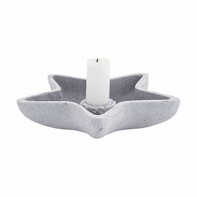 House Doctor House Doctor candlestick concrete star
