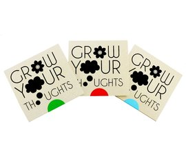 """Greeting card """"Grow your thoughts"""""""