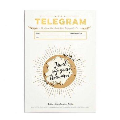 Stratier Kras telegram  trouwen