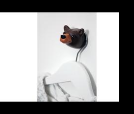 The Zoo Brown bear wandhaak