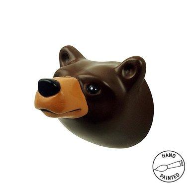 The Zoo Brown bear wall hook