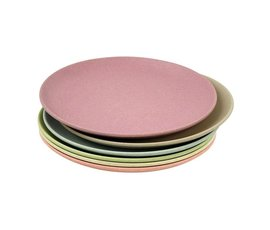 Zuperzozial Bamboo plates set of 6 dawn