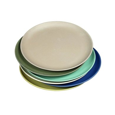 Zuperzozial Bamboo plates set of 6 dawn