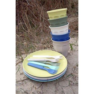 Zuperzozial Bamboe borden set van 6 breeze