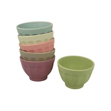 Zuperzozial Bamboe bowls set van 6 dawn