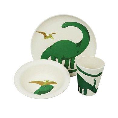 Zuperzozial Bamboo food set - Hungry Flamingo set / 3