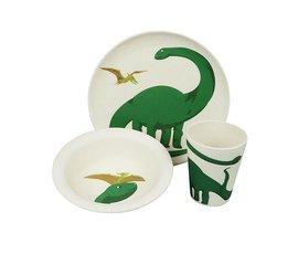 Zuperzozial Bamboo dining set - Dino set / 3