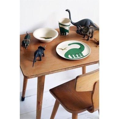 Zuperzozial Bamboe eetset - Dino set/3