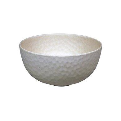 Zuperzozial Bamboe medium bowl hammered coconut white