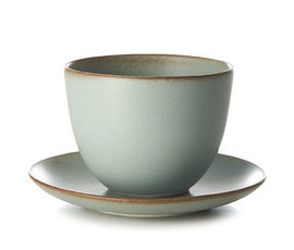 Kinto Kinto cup and saucer Pebble moss green