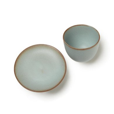 Kinto Kinto cup and saucer Pebble moss green