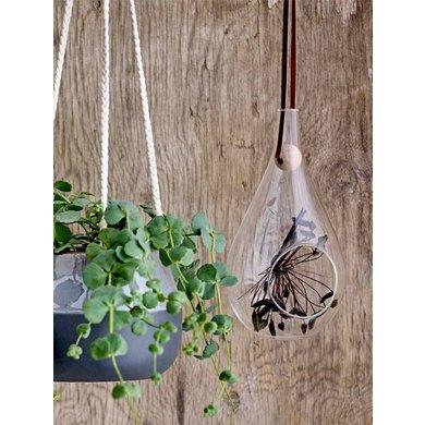 Bloomingville Hang flowerpot glass