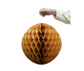 Delight Department Honeycomb balls ochre set of 2