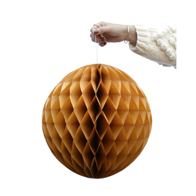 Delight Department Honeycomb balls ochre set of 2