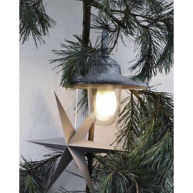 Delight Department Ornament ster grijs set van 2