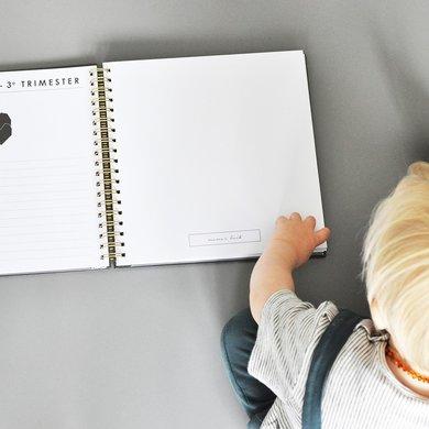 House of products Babyboek linnen grijs