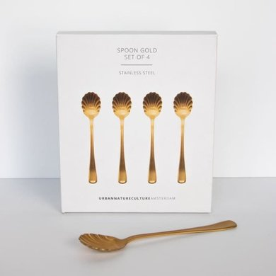 Urban Nature Culture Amsterdam Gift set of spoons gold