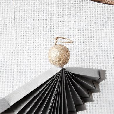 House Doctor Ornament angel grijs 12 cm