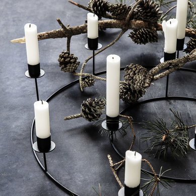 House Doctor Ring candlestick black large