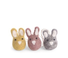 En Gry & Sif Én Gry & Sif set of 3 mini Easter bunny pendants