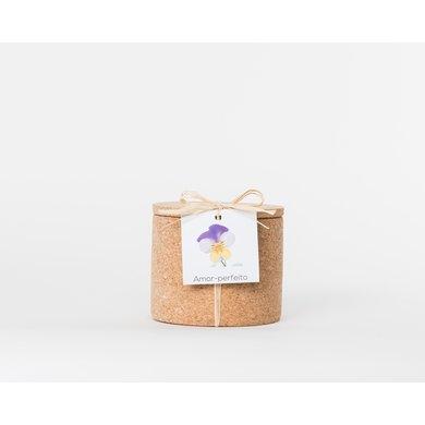 Life in a bag Life in a bag spice jar cork violets