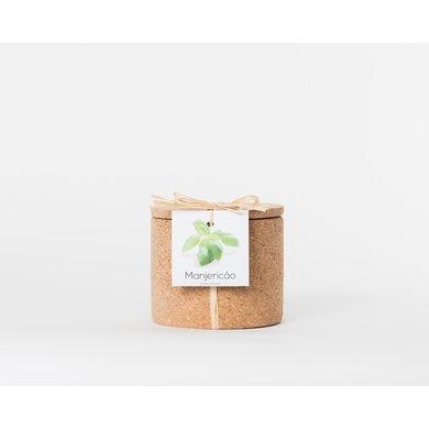 Life in a bag Life in a bag kruidenpot kurk basilicum