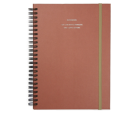 House of products Notebook big Brick red