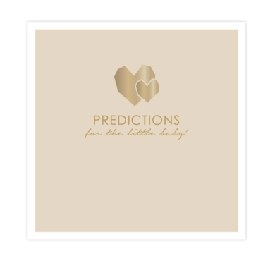 House of products Baby predictions cards
