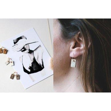 Lisa la pelle Lisa la Pelle earrings be cleo beige