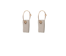 Lisa la pelle Lisa la Pelle earrings be cleo beige