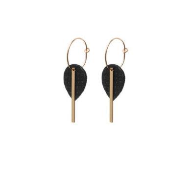 Lisa la pelle Lisa la pelle earrings mini me or you black