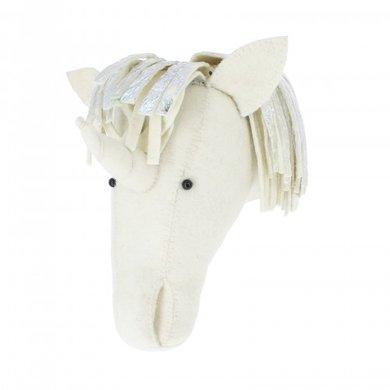 Fiona Walker Fiona Walker felt animal head silver unicorn