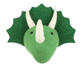 Fiona Walker Fiona Walker felt animal head triceratops - mini