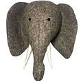 Fiona Walker Fiona Walker felt animal head Elephant head with trunk up