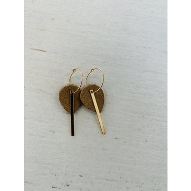 Lisa la pelle Lisa la pelle earrings mini me or you camel