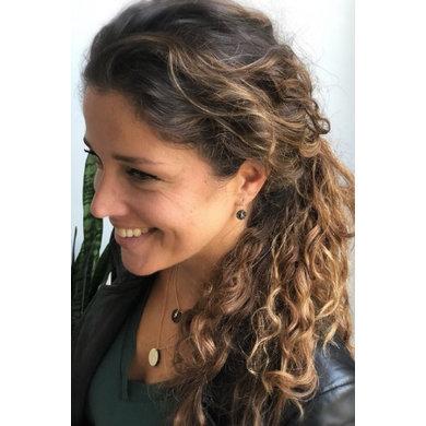 Lisa la pelle Lisa la pelle earrings see through beautiful brown suede