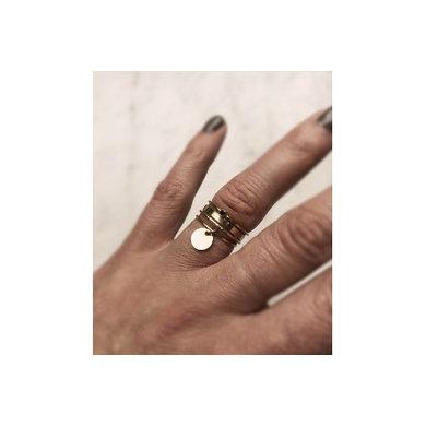 Lisa la pelle Lisa la pelle ring single confetti dot