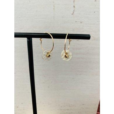 Lisa la pelle Lisa la pelle earrings see through beautiful cream leather