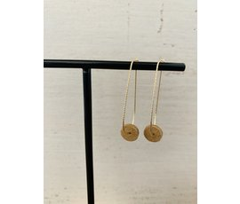 Lisa la pelle Lisa la pelle earrings moo's love swing camel