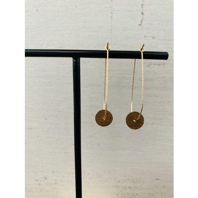 Lisa la pelle Lisa la pelle earrings moo's love swing brown suede