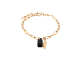 Lisa la pelle Lisa la pelle bracelet lana light black