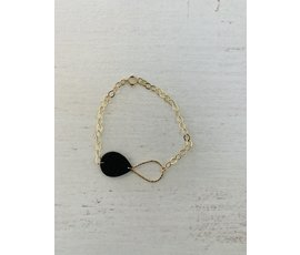 Lisa la pelle Lisa la pelle armband mini me zwart