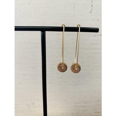 Lisa la pelle Lisa la pelle earrings moo's love swing gold