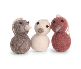 En Gry & Sif Én Gry & Sif mini chick set of three colors red
