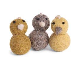 En Gry & Sif Én Gry & Sif mini kuikentjes set van drie kleuren geel