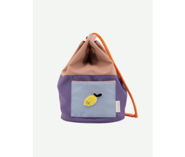 Sticky Lemon Sticky Lemon Knapsack Colour blocking chocolat au lait, lobby purple, royal orange