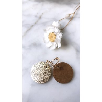 Lisa la pelle Lisa la Pelle earrings confetti love reversible black / gold rose gold