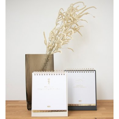House of products HOP birthday calendar nature with gold foil