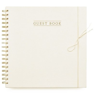 House of products HOP Guestbook – Ivoor – Linnen cover